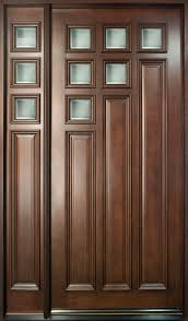 residential front doors. Mahogany Solid Wood Front Door - Single With 1 Sidelite Residential Doors