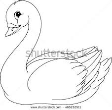 Small Picture Swan Coloring Page Stock Vector 465232511 Shutterstock