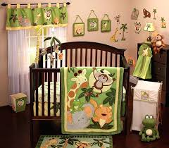 nojo crib bedding set photo 4 of 9 jungle babies 8 piece sets collection
