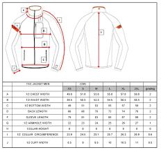 Yxs Size Chart Yoko Yxc Nordic Jacket Men