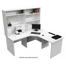 white corner office desk. Origo Corner Office Desk Workstation With Hutch - White
