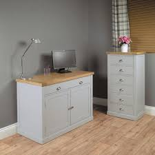 baumhaus chadwick hidden home office grey painted with oak top baumhaus chadwick grey painted hidden home office