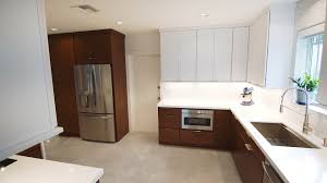 Mid Century Modern Kitchen With Two Tone Cabinets