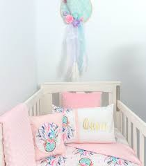 Dream Catcher Baby Bedding Cot Set Pink Gold PREMIUM 20
