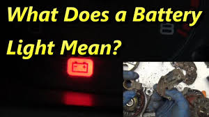 What Does A Battery Light Mean What Makes The Battery Light Come On