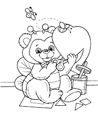 Valentines Coloring Page Wpvoteme