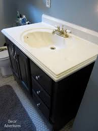 how to remove a countertop from a vanity
