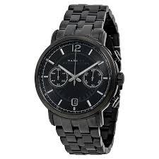 marc by marc jacobs fergus chronograph black dial black ion plated marc by marc jacobs fergus chronograph black dial black ion plated men s watch mbm5065