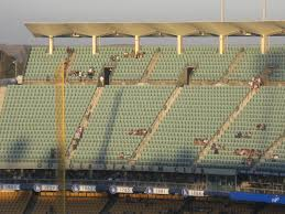 Dodger Stadium Reserve Level Down The Line Baseball