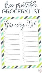 grocery list template printable the 25 best grocery list templates ideas on pinterest free menu