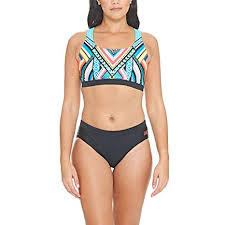 Amazon Com Zoggs Womens Breeze Muscle 2 Piece Swimsuit Size