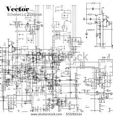 schematic diagram project electronic circuit graphic stock vector schematic diagram r7122 at Schematic Diagram