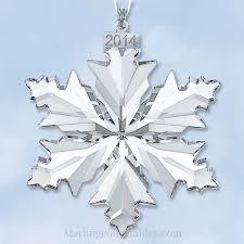 Annual Ornaments 2014 Swarovski Snowflake Annual Limited Edition Crystal Ornament In