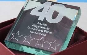 40th birthday keepsake gl block 1