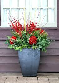 winter holiday planters outdoor decorating ideas porch pot