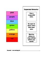 Expected Behavior Chart For Use At Home Or At School