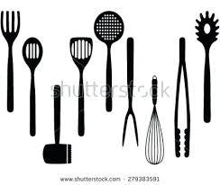 kitchen utensils silhouette vector free. 450x380 Kitchen Utensils Silhouette Vector Free