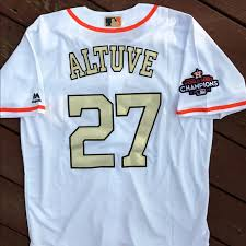 Jersey And Astros Blue Gold