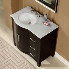 Accord 36 inch Contemporary Single Sink Bathroom Vanity with Left Sink