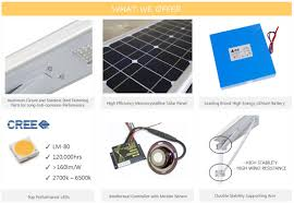 Solar Light Parts All In One Integrated Led Solar Street Light 12w