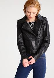 calvin klein jeans madison leather jacket black women clothing jackets