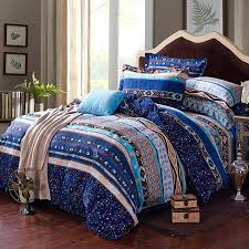 boho bedding sets queen incredible blue white and yellow stripe and bohemian tribal print bedding boho bedding sets queen