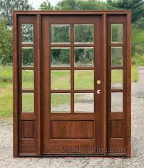 exterior door mahogany 8 lite with sidelights
