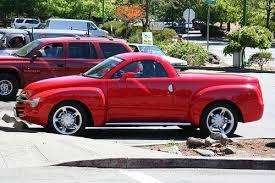 Red Chevrolet SSR Retractable Hardtop Convertible Pickup Truck Seen ...
