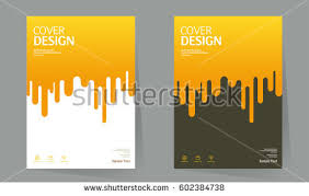 annual report design layout book cover design vector template in a4 size brochure