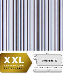 Behang Strepen Luxe Kwaliteit Vliesbehang Edem 967 26 Donker Bruin
