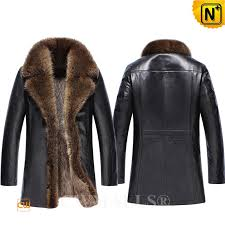 black fur leather coats