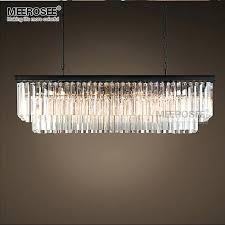 chandeliersrectangular glass drop chandelier id lights for amazing morn rectangle pendant crystal hanging