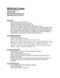 Electronics Technician Resume 07212016. Matthias Fraser  MatthiasfV13@gmail.com 403-795-5559 #419 155 Edwards ...