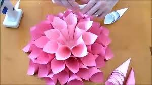 Dahlia Flower Making With Paper Legende Diy Giant Dahlia Paper Flowers Wie Man Große