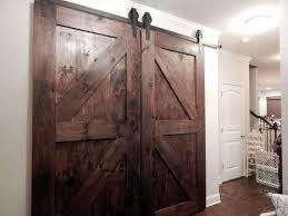 atlanta interior sliding barn door double z style rustic plank single barn door includes sliding door hardware and track