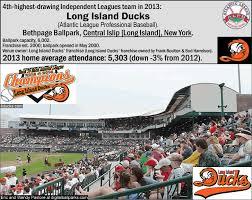 Long Island Ducks Seating Chart Baseball Independent Leagues Billsportsmaps Com