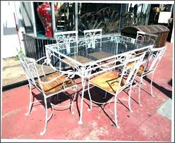 black wrought iron furniture. Painting Wrought Iron Furniture Patio Black