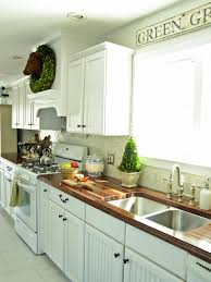 white country kitchen with butcher block. Contemporary Country Inside White Country Kitchen With Butcher Block