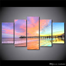 hd printed canvas art colorful sunset bridge scenery painting wall pictures for living room beautiful oil painting print framed painting art