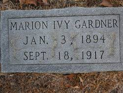 Marion Ivy Gardner (1894-1917) - Find A Grave Memorial