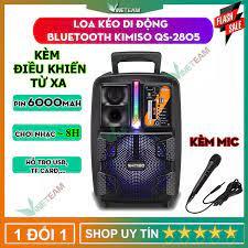 Loa bluetooth 2 tấc Kimiso QS-2805 bass mạnh cỡ lớn to công suất lớn 1000w