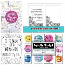 Growth mindset coloring pages, set #2: The Ultimate List Of Free Growth Mindset Printables For Kids And Adults Bits Of Positivity