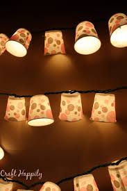 Dixie Cup Lights Craft Happily Diy Dixie Cup Light Garland Dixie Cup