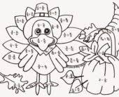 Small Picture Coloring Pages Thanksgiving First Grade Color By Number