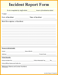Incident Report Form Template Qld Incident Report Form Template Qld