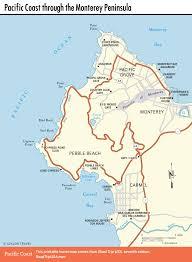 pacific coast route mile drive  pebble beach ca  road trip usa