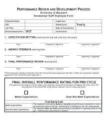 Employee Performance Evaluation Form Format Workplace Review ...