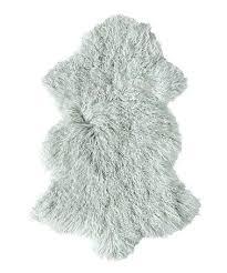 grey faux fur rug sage area 8x10