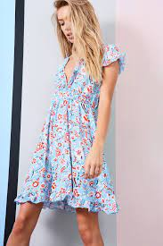 Strenesse Blue Floral Wrap Dress (Page 1) - Line.17QQ.com