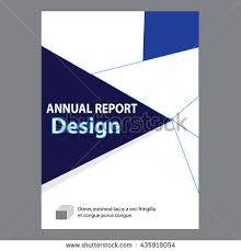 sample title blue annual report title page sample stock vector 435919054